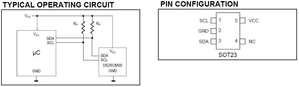 DS28CM00 I2C Serial Number
