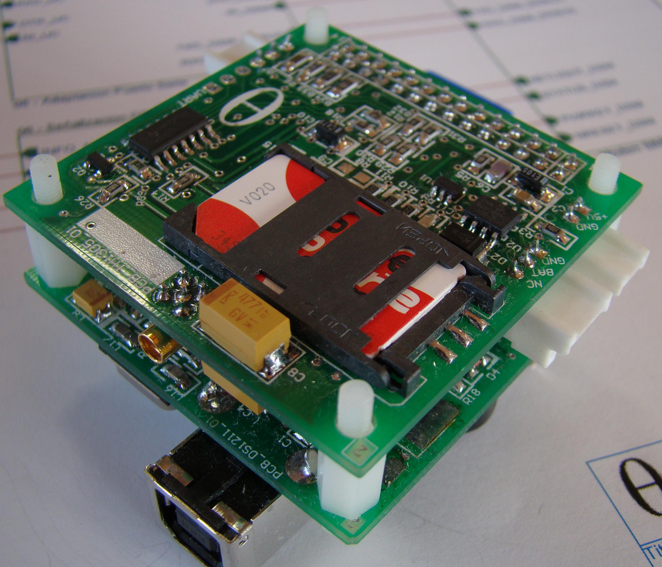 SIM900 Breakout Board and DSETA board